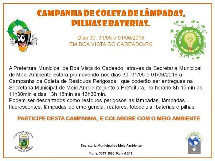 CAMPANHA DE COLETA DE LIXO ELETROELETRÔNICO