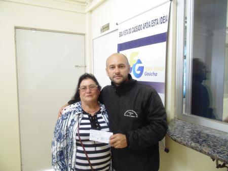 Entrega de Prêmios para os sorteados no Nota Fiscal Gaucha
